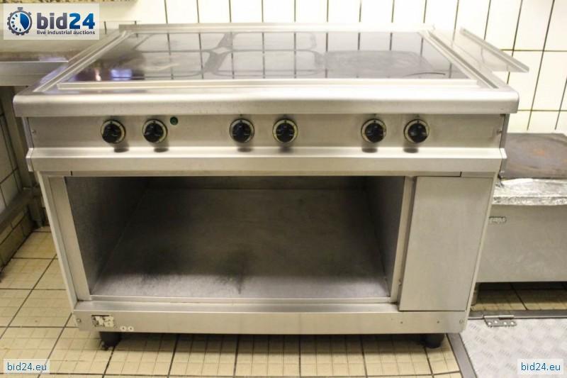 Bid24  Używana kuchnia gastronomiczna elektryczna 5 stref grzewczych -> Kuchnia Gazowa Gastronomiczna Używana