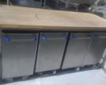 Stół blat drewniany + pojemniki na mąkę