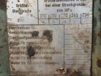 Prostownica do blach grubych Veb - Erfurt #8