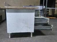 Metalowy stół z drewnianym blatem #3