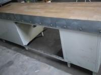 Metalowy stół z drewnianym blatem #4