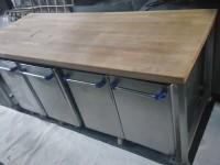 Stół blat drewniany + pojemniki na mąkę #5