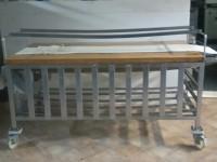 Stół piekarniczy z drewnianym blatem #1
