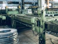 Linia Wilhelmsburger Maschinenfabrik do cięcia poprzecznego blac #6