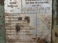 Prostownica do blach grubych Veb - Erfurt #5