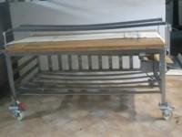 Stół piekarniczy z drewnianym blatem #3