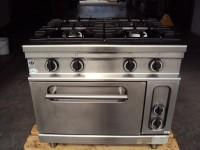 Kuchnia gazowa z piekarnikiem elektrycznym Bartsher 6.6kW (122-9) #1